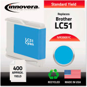 Innovera® Remanufactured LC51C Ink, 400 Page-Yield, Cyan,