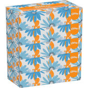 Kleenex® White Facial Tissue, 2-Ply, 100 Tissues/Box, 5 Boxes/Pack, 6 Packs/Carton - 21005