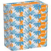 Kleenex® White Facial Tissue, 2-Ply, 100 Tissues/Box, 5 Boxes/Pack, 6 Packs/Carton - 21005