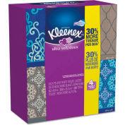 Kleenex® Ultra Soft Facial Tissue, 3-Ply, White, 8-3/4 x 4-1/2, 75/Box, 4 Box/Pack - 25830