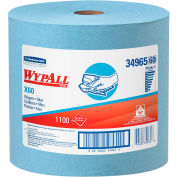 WypAll X60 Wipers, Jumbo Roll, 12-1/2 x 13-2/5, Blue, 1100/Roll - 34965