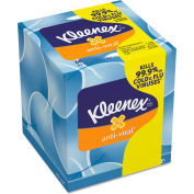 Kleenex® Anti-Viral Facial Tissue, 3-Ply, 8-1/4 x 8-1/5, White, 68/Box - 37303