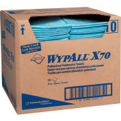 WypAll X70 Foodservice Towels, 1/4-Fold, 12-1/2 x 23-1/2, Blue, 300/Carton - 5927