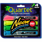 Quartet® Neon Dry Erase Marker Set, Assorted, 4/Set