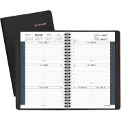 AT-A-GLANCE® Weekly Appointment Book Ruled for Hourly Appointments, 4 7/8 x 8, Black, 2021