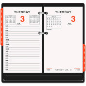 AT-A-GLANCE® Two-Color Desk Calendar Refill, 3 1/2 x 6, 2019
