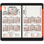 AT-A-GLANCE® Burkhart's Day Counter Desk Calendar Refill, 4 1/2 x 7 3/8, White, 2019
