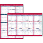 AT-A-GLANCE® Erasable Vertical/Horizontal Wall Planner, 32 x 48, Blue/Red, 2018