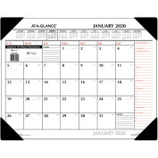 AT-A-GLANCE® Two-Color Monthly Desk Pad Calendar, 22 x 17, 2020