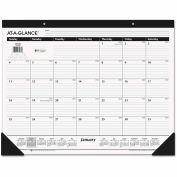 AT-A-GLANCE® Classic Desk Pad, 22 x 17, 2018