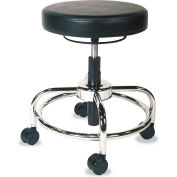 Alera Plus™ Height-Adjustable Utility Stool, Black