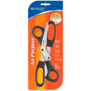 "Westcott 13402 All Purpose Value8"" Bent Scissors 3-pack"