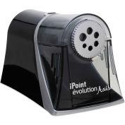 "Westcott® iPoint Evolution Axis Pencil Sharpener, AC-Powered, 5"" x 7.5"" x 7.25"", Black/Silver"