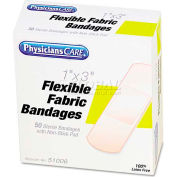 """PhysiciansCare 51006 First Aid Fabric Bandages, Box of 50, 1"""" x 3"""""""