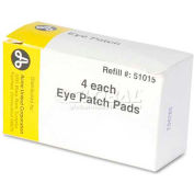 "PhysiciansCare 51015 Emergency First Aid Eye Patch, Box of 4, 2"" x 3"""