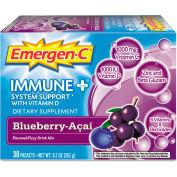 Emergen-C Immune+ Formula Drink Mix, Blueberry Acai, 0.3 Oz, 30/Pack