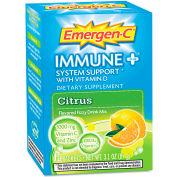 Emergen-C Immune+ Formula Drink Mix, Citrus, 0.3 Oz, 10/Pack