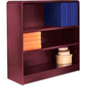 "Alera ALEBCR33636MY Radius Corner Wood Veneer Bookcase, 3-Shelf, 35 5/8""Wx11-3/4""Dx36""H, Mahogany"