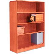 """Alera ALEBCR44836MO Radius Corner Wood Veneer Bookcase, 4-Shelf, 35 5/8""""Wx11-3/4""""Dx48""""H, Oak"""
