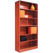 """Alera ALEBCR67236MO Radius Corner Wood Veneer Bookcase, 6-Shelf, 35 5/8""""Wx11-3/4""""Dx72""""H, Oak"""