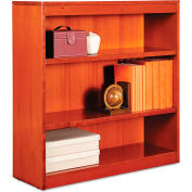 "Alera ALEBCS33636MC Square Corner Wood Veneer Bookcase, 3-Shelf, 35 5/8""Wx11-3/4""Dx36""H, Cherry"