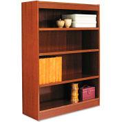 "Alera ALEBCS44836MC Square Corner Wood Veneer Bookcase, 4-Shelf, 35 5/8""Wx11-3/4""Dx48""H, Cherry"