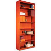 "Alera ALEBCS78436MC Square Corner Wood Veneer Bookcase, 7-Shelf, 35 5/8""Wx11-3/4""Dx84""H, Cherry"