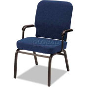 Alera® Oversize Stack Chair with Arms, Navy Fabric Upholstery, 2/Carton
