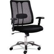 Alera® EM Series Mesh Lumbar Chair, 26-5/8w x 24-7/8d x 38-5/8 to 41-5/8h, Black