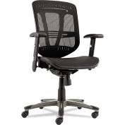 Alera® Eon Series Multifunction Wire Mechanism, Mid-Back Suspension Mesh Chair, Black