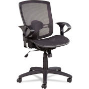 Alera® Synchro Mesh Office Chair - Mesh Seat - Mid Back - Black - Etros Series