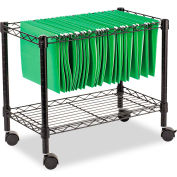 Alera® Single-Tier Rolling File Cart, 24w x 14d x 21h, Black