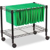 Alera® Single-Tier Rolling File Cart, 24w x 14d x 21h, Black