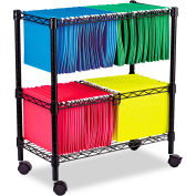 Alera® Two-Tier Rolling File Cart, 26w x14d x 29-1/2h, Black