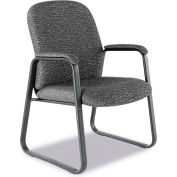 Alera® Genaro Guest Chair, Graphite Fabric, Sled Base