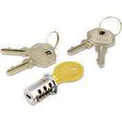Alera ALEKC501111 Lock Core For Metal Mobile Pedestals, Chrome, Set