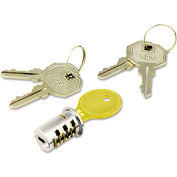 Alera HPLLF23C Key-Alike Lock Core Set, Brushed Chrome