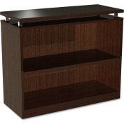 """Alera ALESE633036ES SedinaAG Series Bookcase, 2 Shelves, 36""""W x 15""""D x 30""""H, Espresso"""