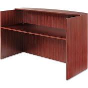 "Alera Reception Desk w/Counter - 71""W x 35-1/2""D x 42-1/2""H - Mahogany - Valencia Series"