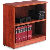 "Alera ALEVA633032MC Valencia Series Bookcase, 2 Shelves, 31-3/4""W x 14""D x 29-1/2""H, Medium Cherry"