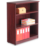 "Alera ALEVA634432MY Valencia Series Bookcase, 3 Shelves, 31-3/4""W x 14""D x 39-3/8""H, Mahogany"