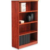 "Alera ALEVA635632MC Valencia Series Bookcase, 4 Shelves, 31-3/4""W x 14""D x 55""H, Medium Cherry"