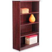 "Alera ALEVA635632MY Valencia Series Bookcase, 4 Shelves, 31-3/4""W x 14""D x 55""H, Mahogany"