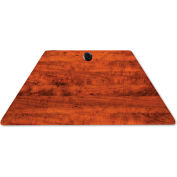 Alera® Valencia Series Training Table Top, Trapezoid, 48w x 24d, Medium Cherry