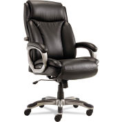 Alera® Executive Leather Chair with Coil Spring Cushioning - Leather - Black - Veon Series