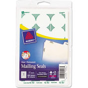 "Avery® Print or Write Mailing Seals, 1"" Dia., Clear, 480/Pack"