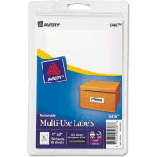 Avery® Print or Write Removable Multi-Use Labels, 1 x 3, White, 250/Pack