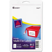 Avery® Print or Write Removable Multi-Use Labels, 2 x 4, White, 100/Pack