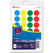 """Avery® Print or Write Removable Color-Coding Labels, 3/4"""" Dia, Assorted, 1008/Pack"""