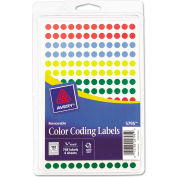 """Avery® Removable Self-Adhesive Color-Coding Labels, 1/4"""" Dia, Assorted, 768/Pack"""